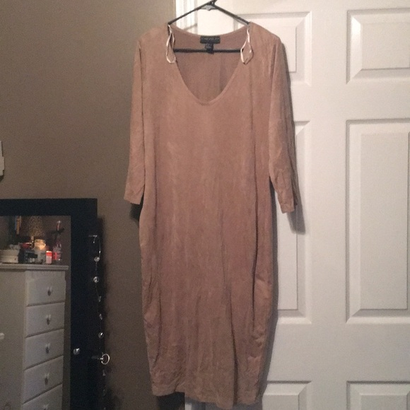 Forever 21 Dresses Plus Size Suede Dress Poshmark